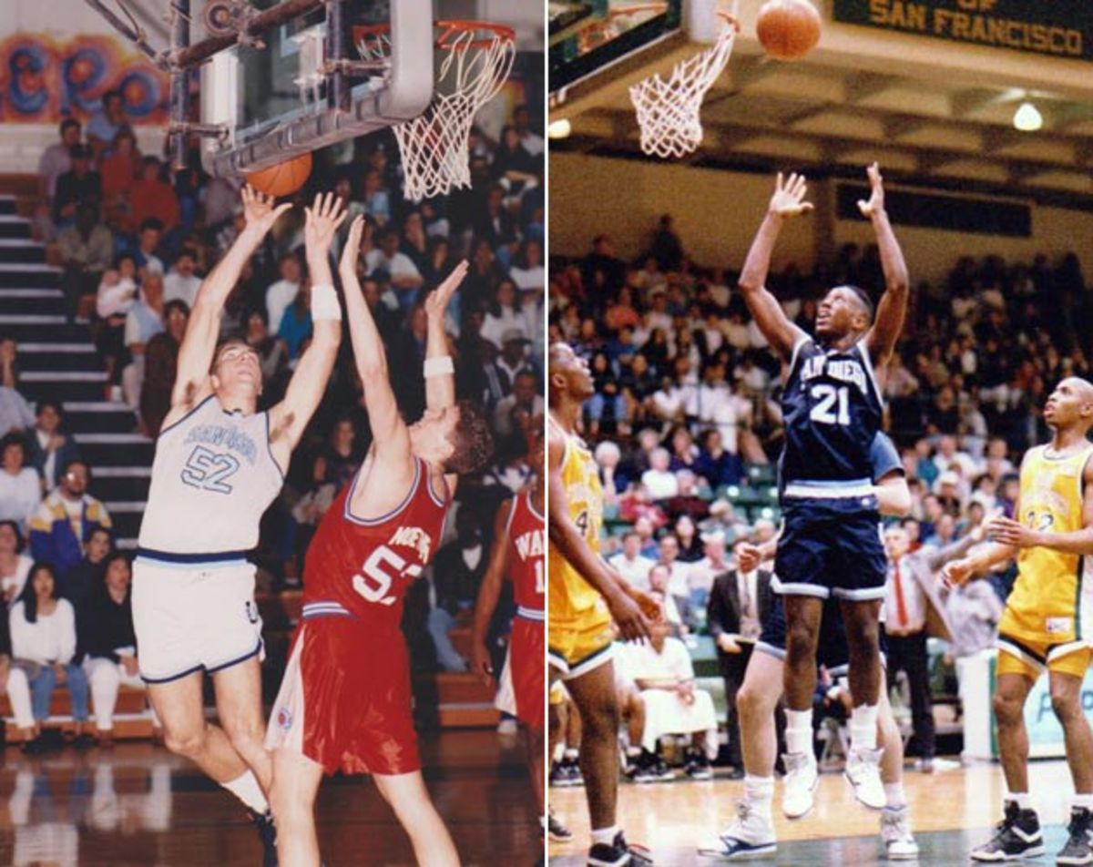 Former Cavs colleagues Chris Grant (left) and Mike Brown were first teammates at USD.