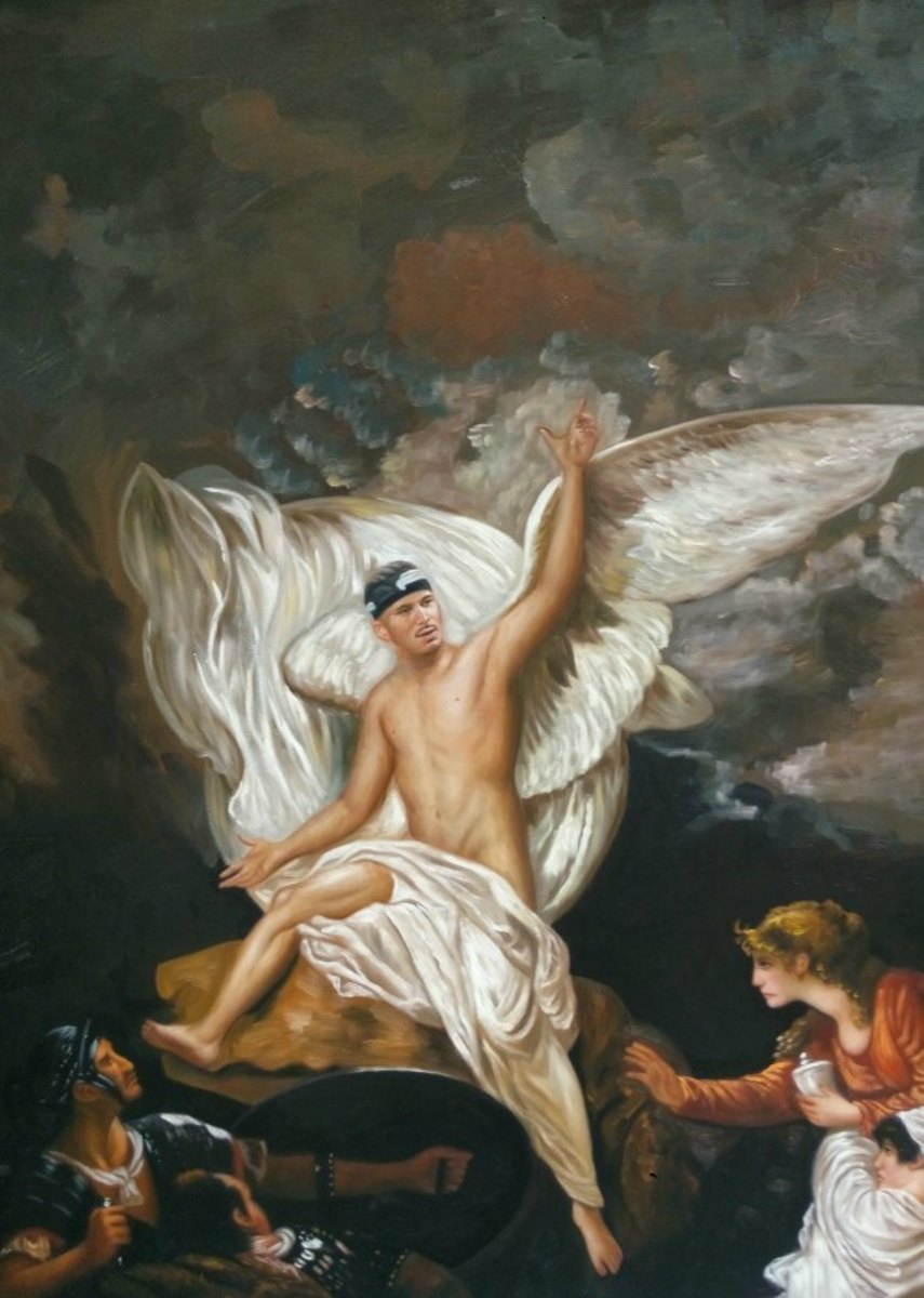 Jermaine Kearse in 'The Angel of the Lord Announcing the Resurrection' by Benjamin West, 1805