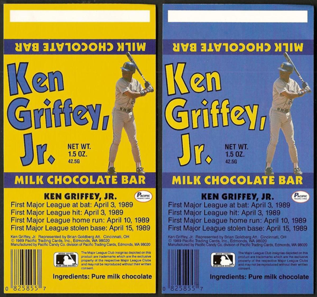 Ken Griffey, Jr. milk chocolate bar