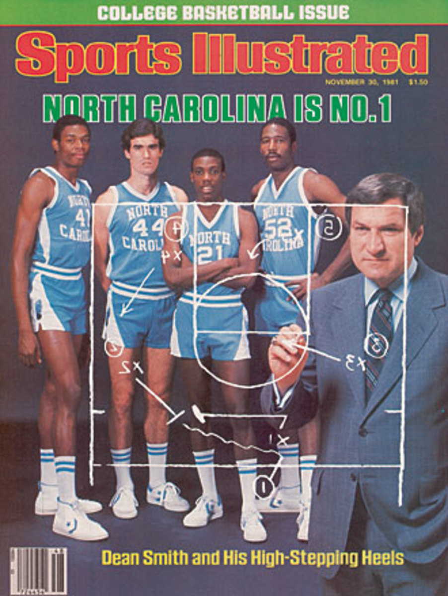 The only Tar Heels starter missing from this cover is the man who went on to appear on more SI covers than anyone else: Michael Jordan.