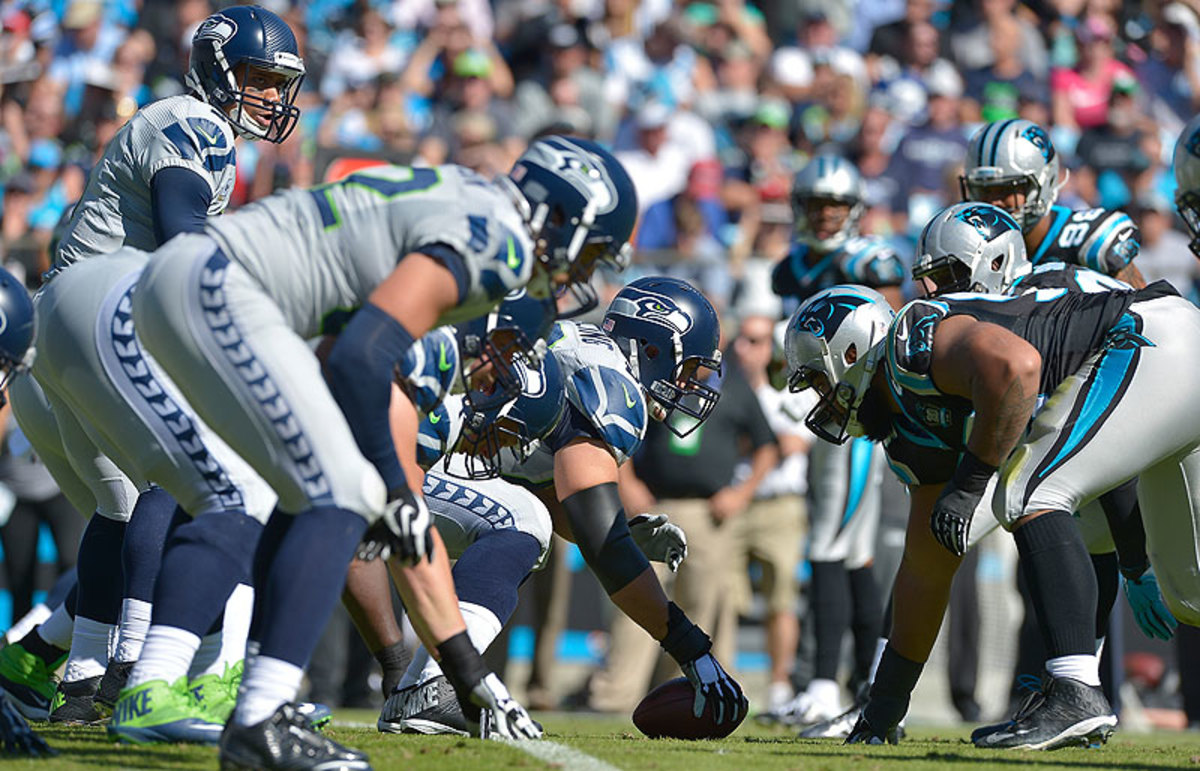 Saturday's Panthers-Seahawks divisional game will be a rematch of Seattle's 13-9 win at Carolina in Week 8. (Grant Halverson/Getty Images)