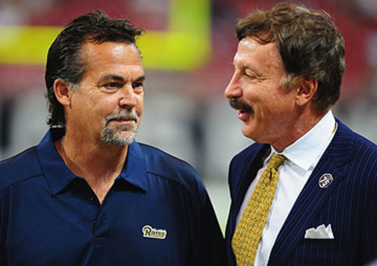 Rams coach Jeff Fisher, left, and owner Stan Kroenke (Michael Thomas/Getty Images)