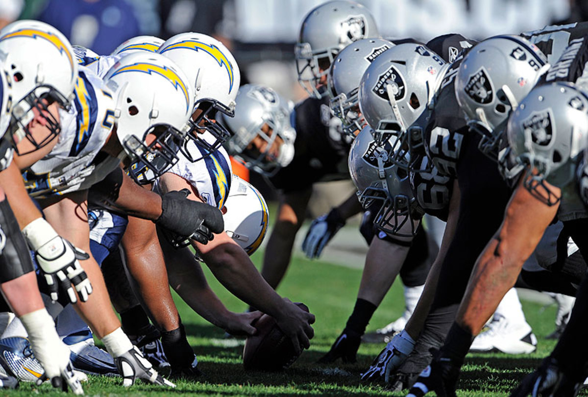 The Chargers and Raiders have been in the same division since the AFL Western Division was formed in 1960. (Gregg Trott/AP)