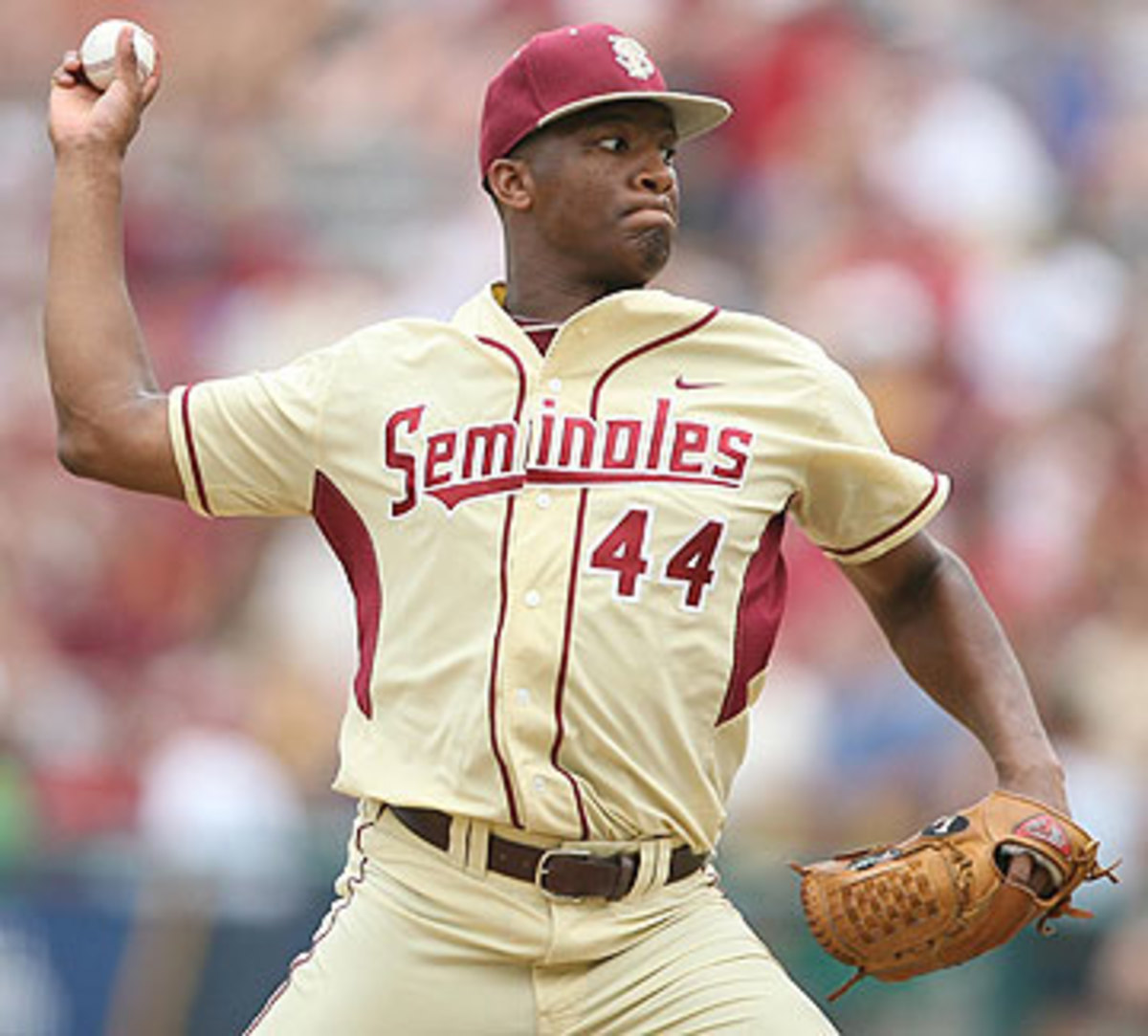 Winston had a 1.08 ERA and held opponents to a .154 batting average as a relief pitcher for the Noles last year. (Stephen M. Dowell/Getty Images)