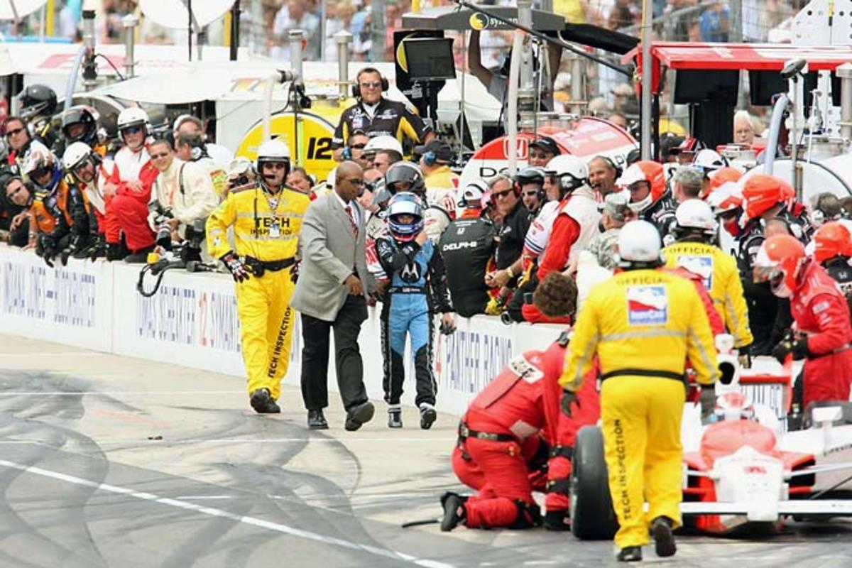 Pit Lane Anger at Indy