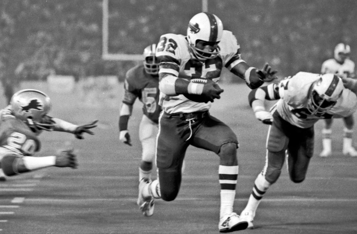 O.J. Simpson ran for a then-NFL record 273 yards at the Silverdome in '76.