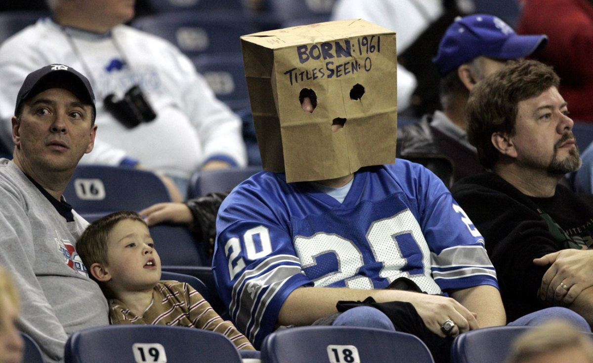 In the winless 2008 season, sad-sack fans went incognito at Ford Field.
