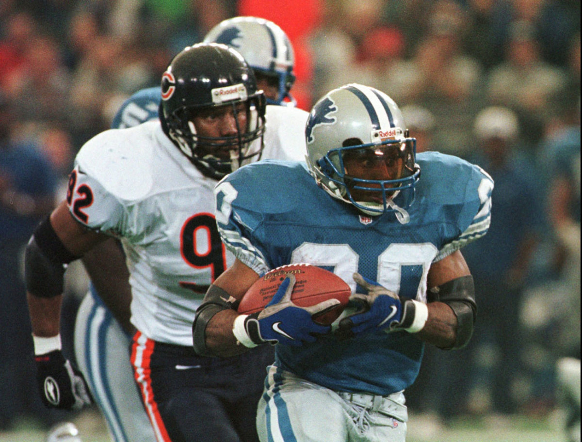 Barry Sanders on Thanksgiving is what many new players to the Lions say they know about Detroit.