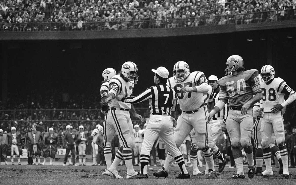 Joe Namath and Jets talked Turkey with the refs at Tiger Stadium in '72.