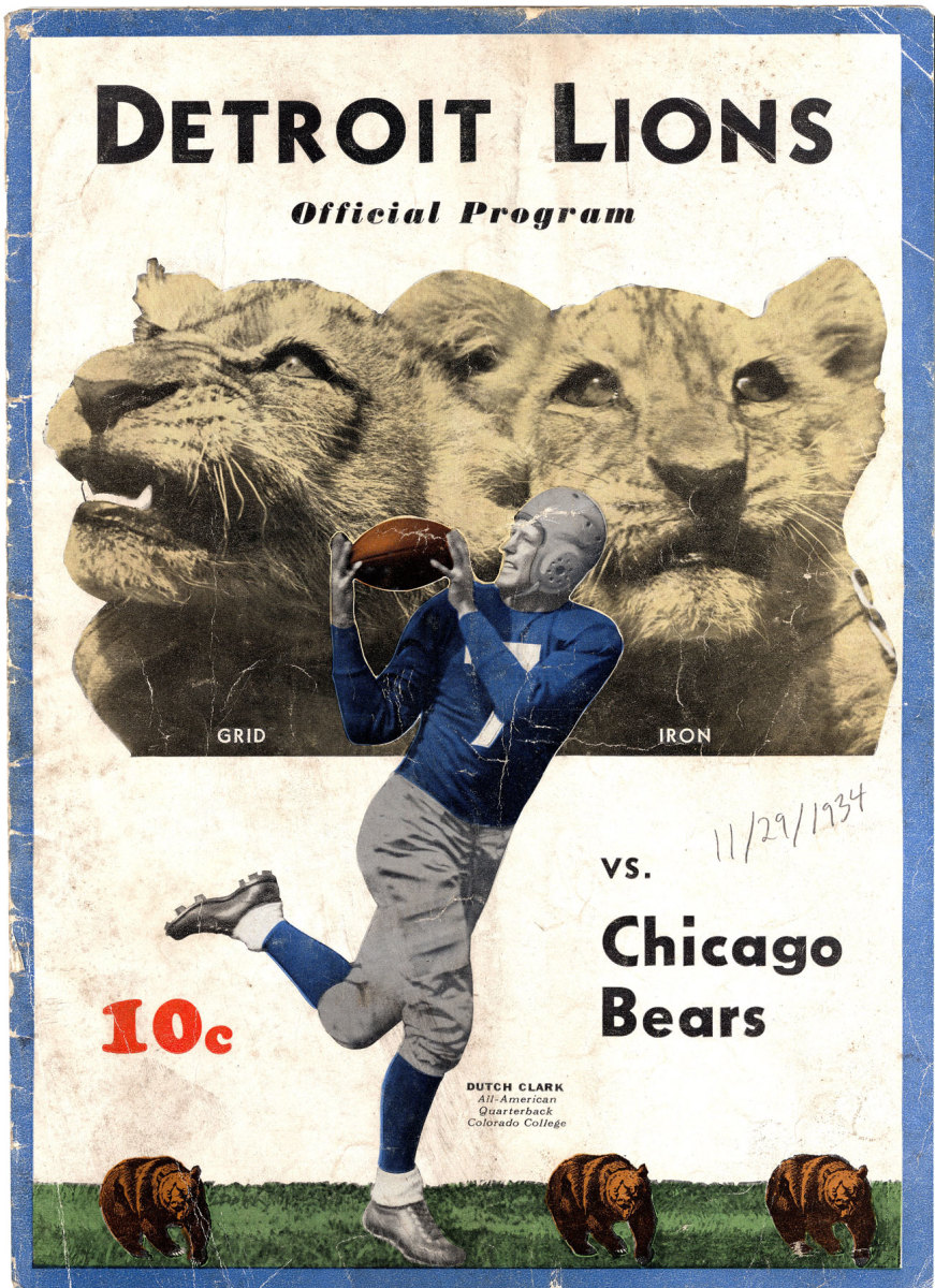 The program from the first Turkey Day game in Detroit.