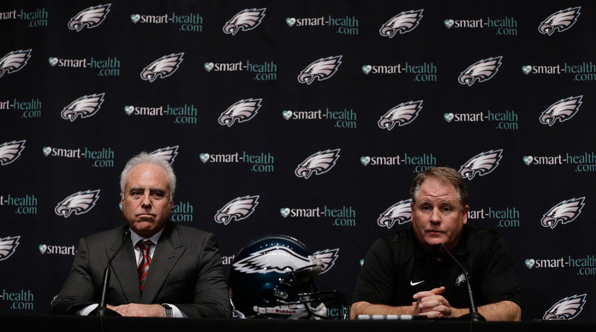 """After hiring Kelly in January 2013, Eagles owner Jeffrey Lurie said, """"He motivates his team with his actions as well as his words."""""""