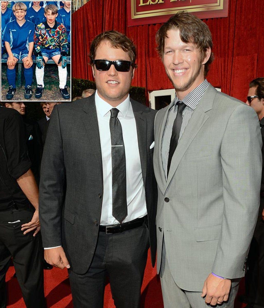 Matthew Stafford and Clayton Kershaw