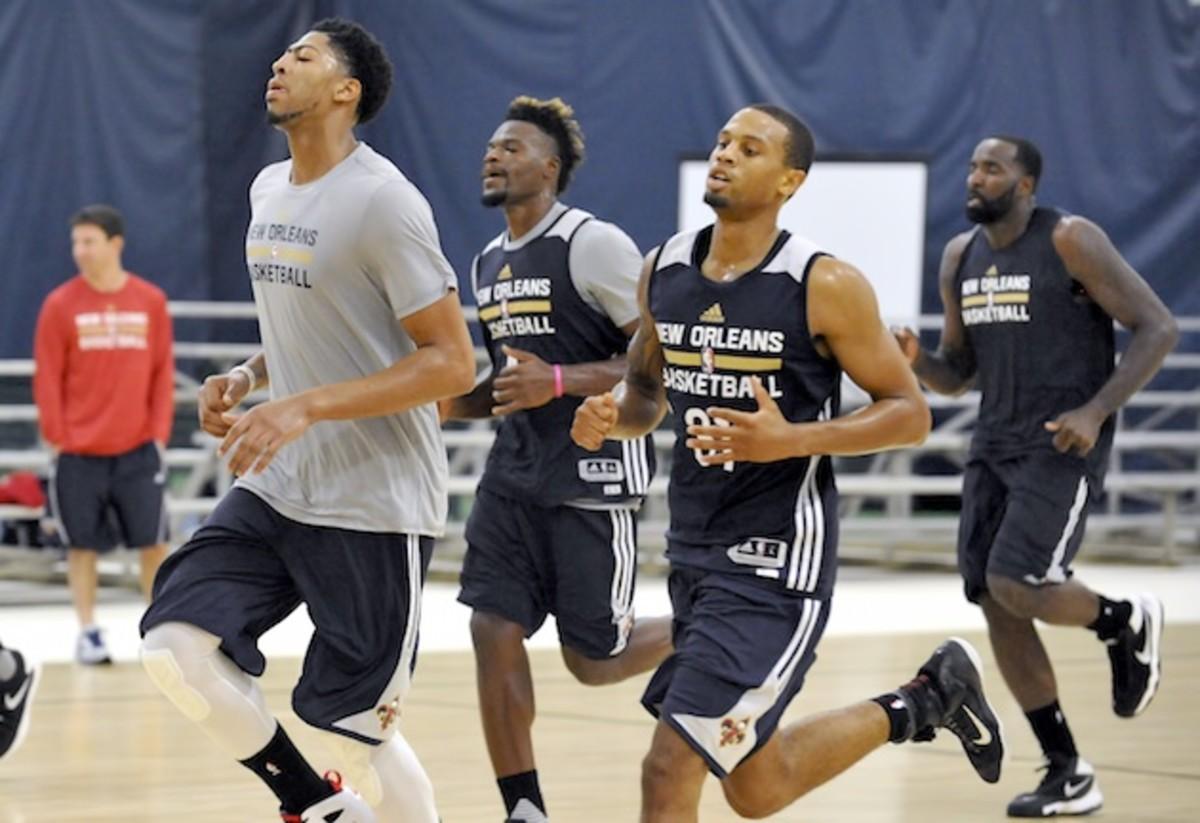 Pelicans training camp. Looks like fun.