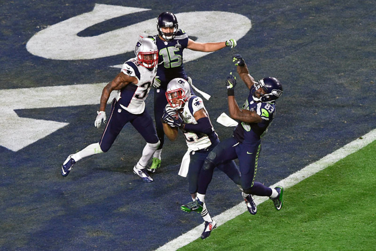 Malcolm Butler jumped the route and picked off Wilson on the goal line to snuff out the Seahawks. (John Iacono/Sports Illustrated/The MMQB)