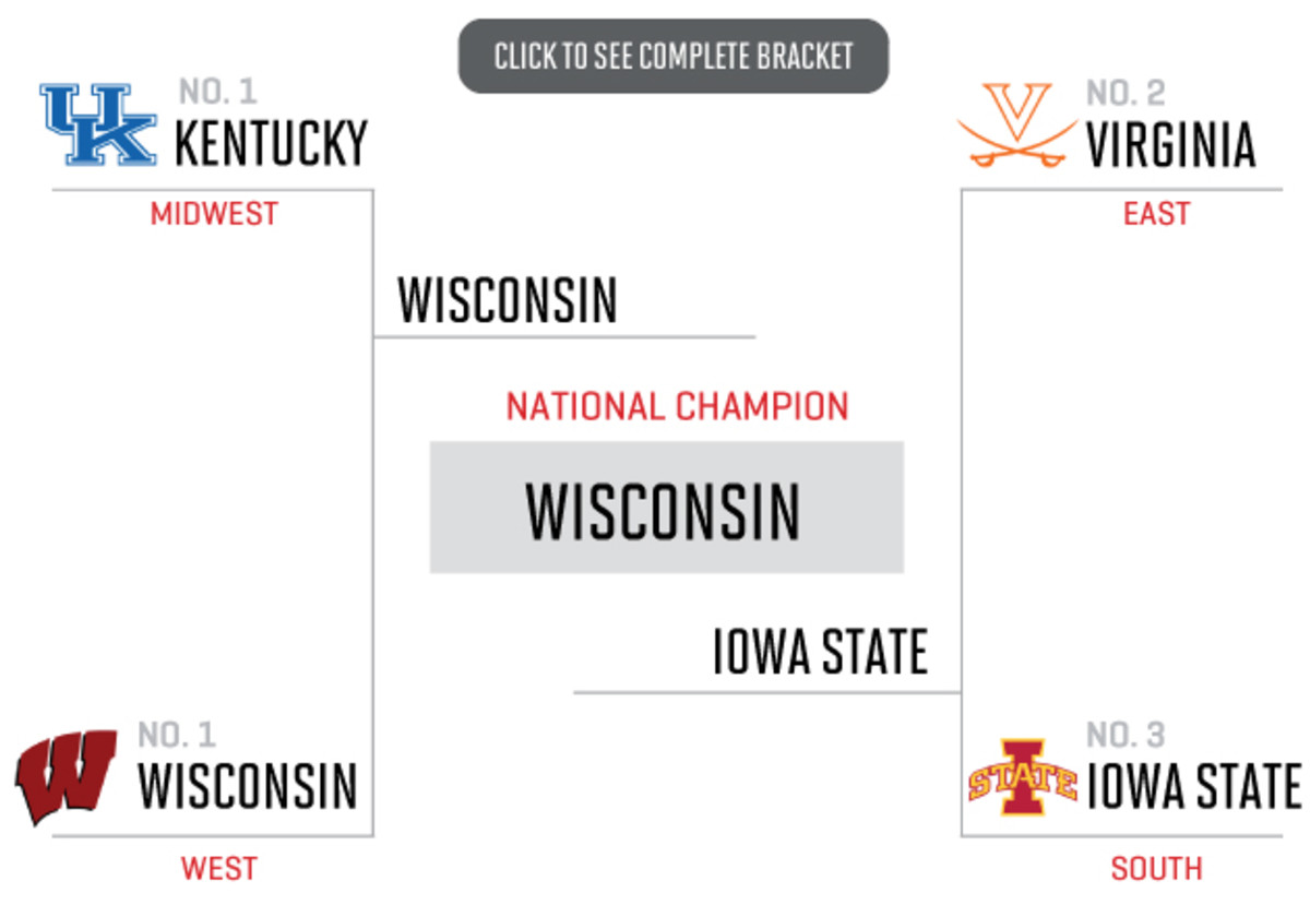 2015 NCAA tournament bracket - Pete Thamel