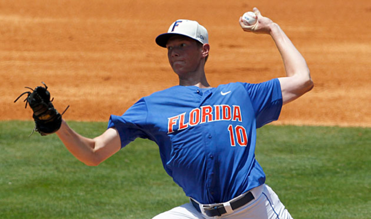 A.J. Puk has helped Florida reach the College World Series and positioned himself at the top of draft boards for next season.