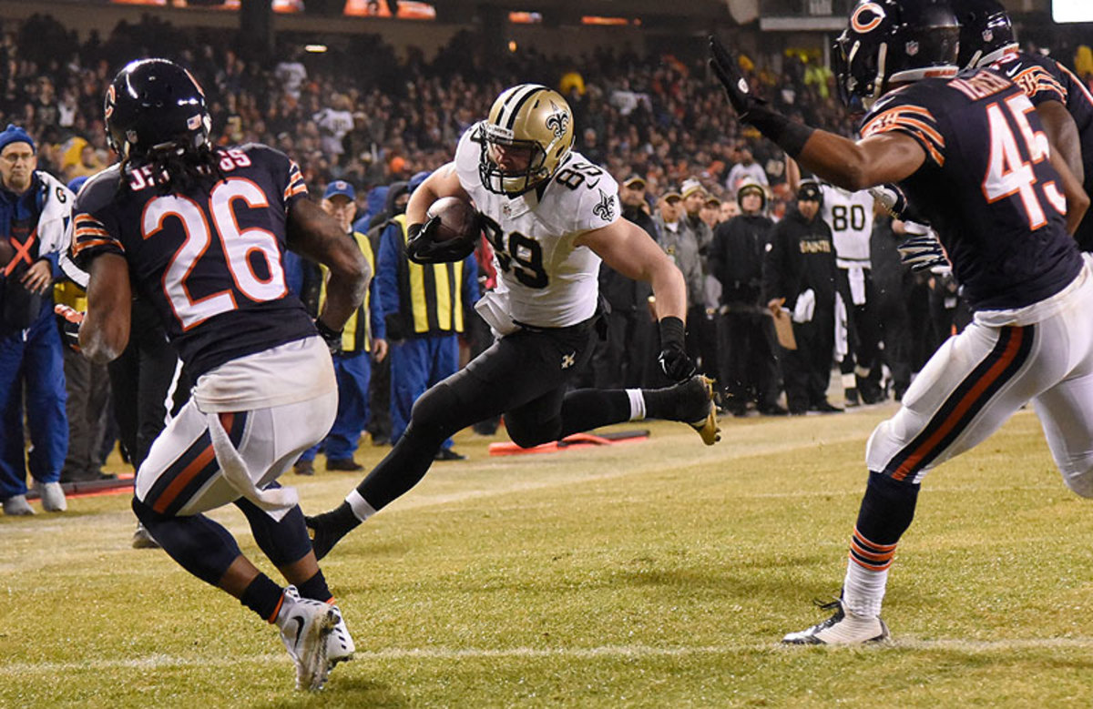 The Saints are counting on tight end Josh Hill, a third-year player with 20 career catches, to step into the role vacated by Jimmy Graham. (David Banks/Getty Images)