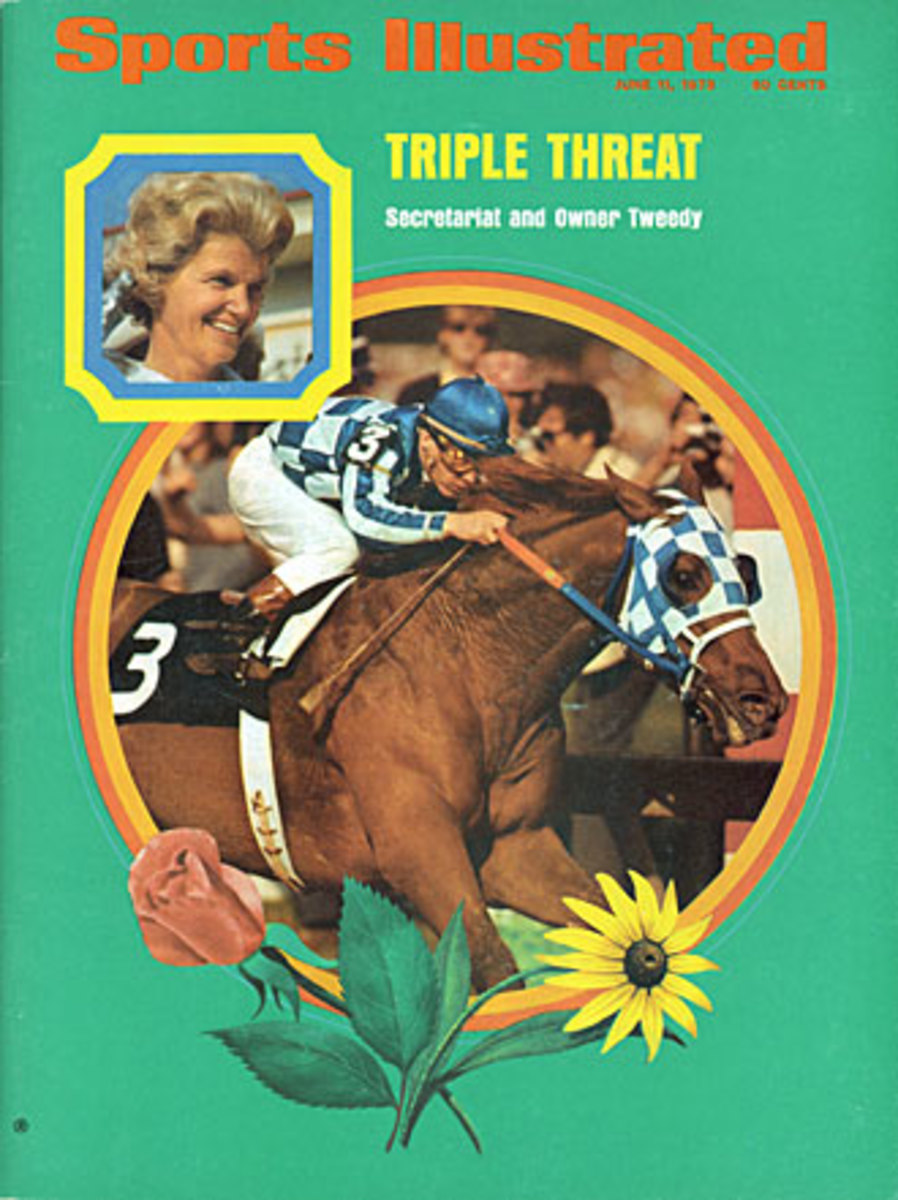 Secretariat made the cover of SI before -- but not after -- his dominating run at the Belmont Stakes.