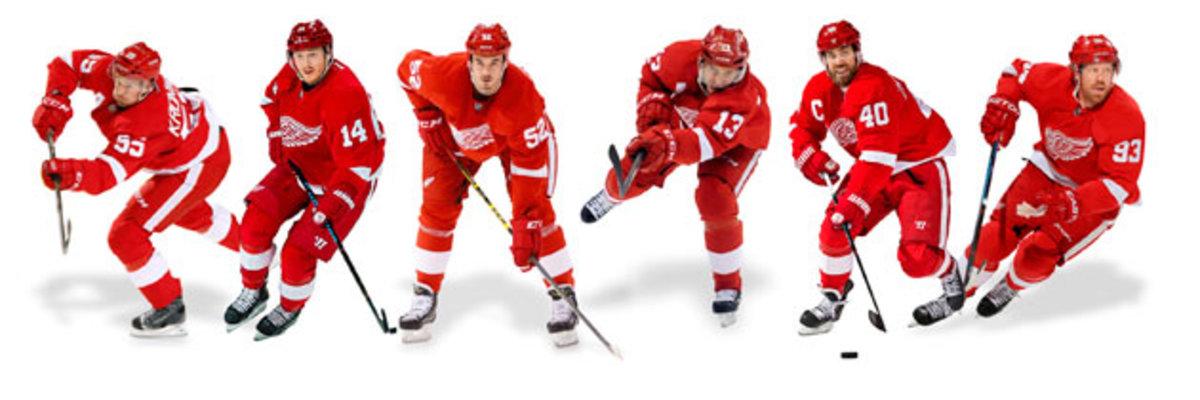 Current Red Wings scouted by Andersson: Niklas Kronwall (29th, 2000); Gustav Nyquist (121, '08); Jonathan Ericsson (291, '02); Pavel Datsyuk (171, 1998); Henrik Zetterberg (210, '99); Johan Franzen (97, 2004)