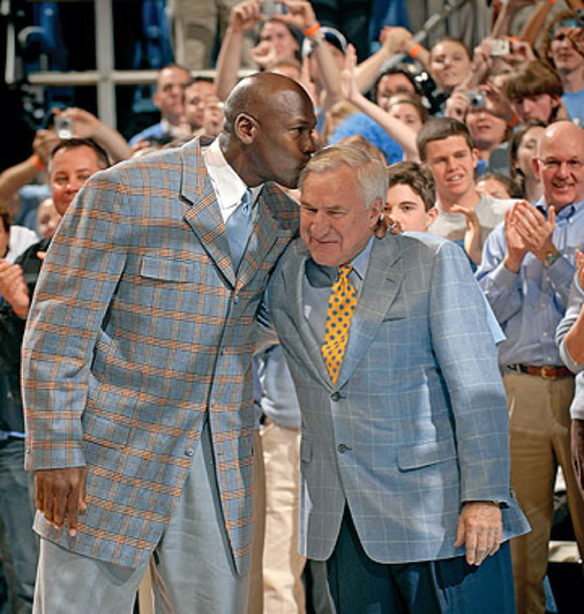 Michael Jordan and Dean Smith, in 2007 (Grant Halverson/Getty Images)