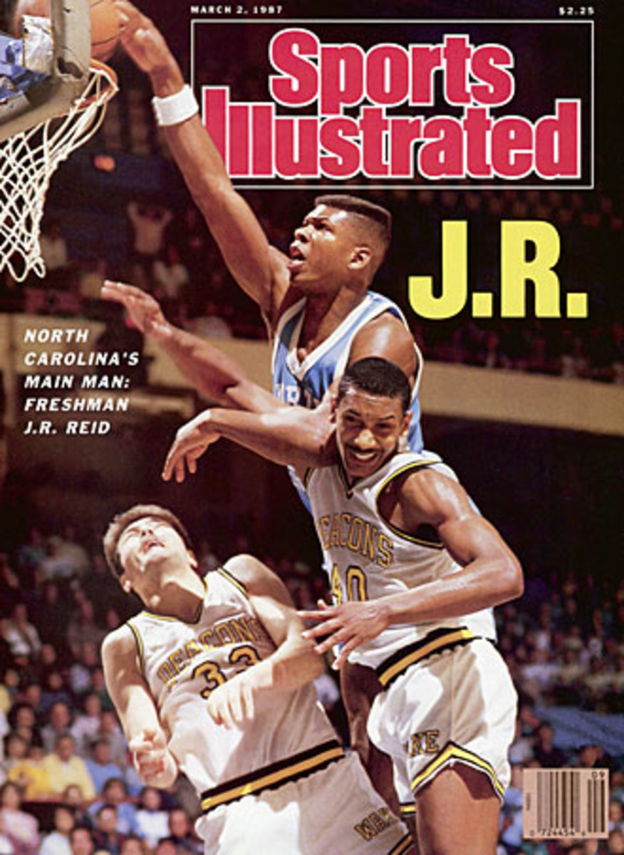J.R. Reid landed on the front of SI in 1987, but Smith hardly felt the cover language was a slam dunk.