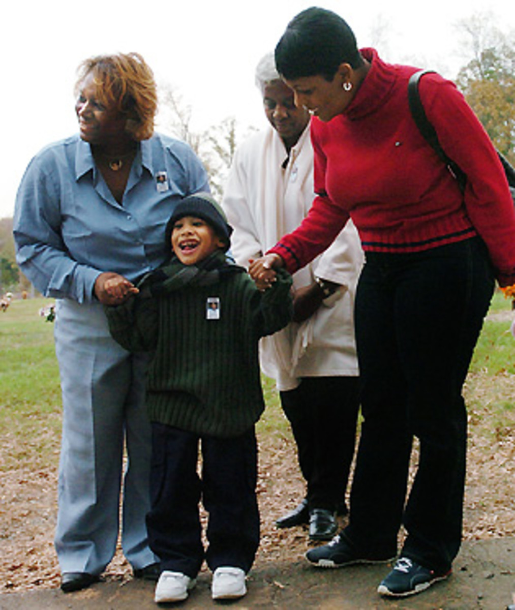 """""""He is fighting for his life,"""" Saundra says of her grandson, Chancellor."""