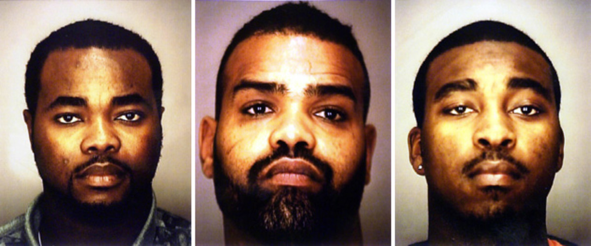 Carruth was convincted in connection with Cherica's murder, along with (from near right) Knnedy, Watkins and Abraham.