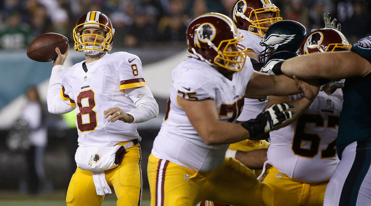 Kirk Cousins started every game for Washington this season in leading the team to an NFC East title.