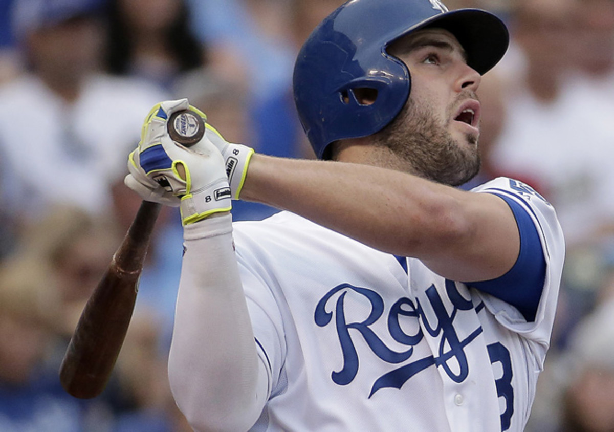 Mike Moustakas of the Royals leads all American League third baseman in All-Star Game fan voting.