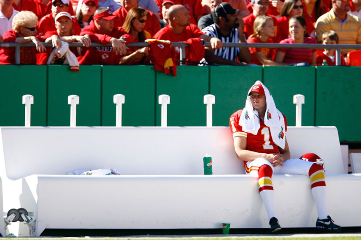 Tynes, who beat out Morten Anderson for a spot on the Chiefs in 2004, knows how tenuous a kicker's fate can be. (Jamie Squire/Getty Images)