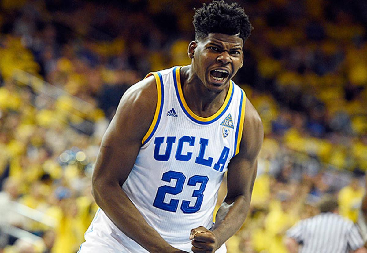 Tony Parker celebrates during UCLA's win over Kentucky