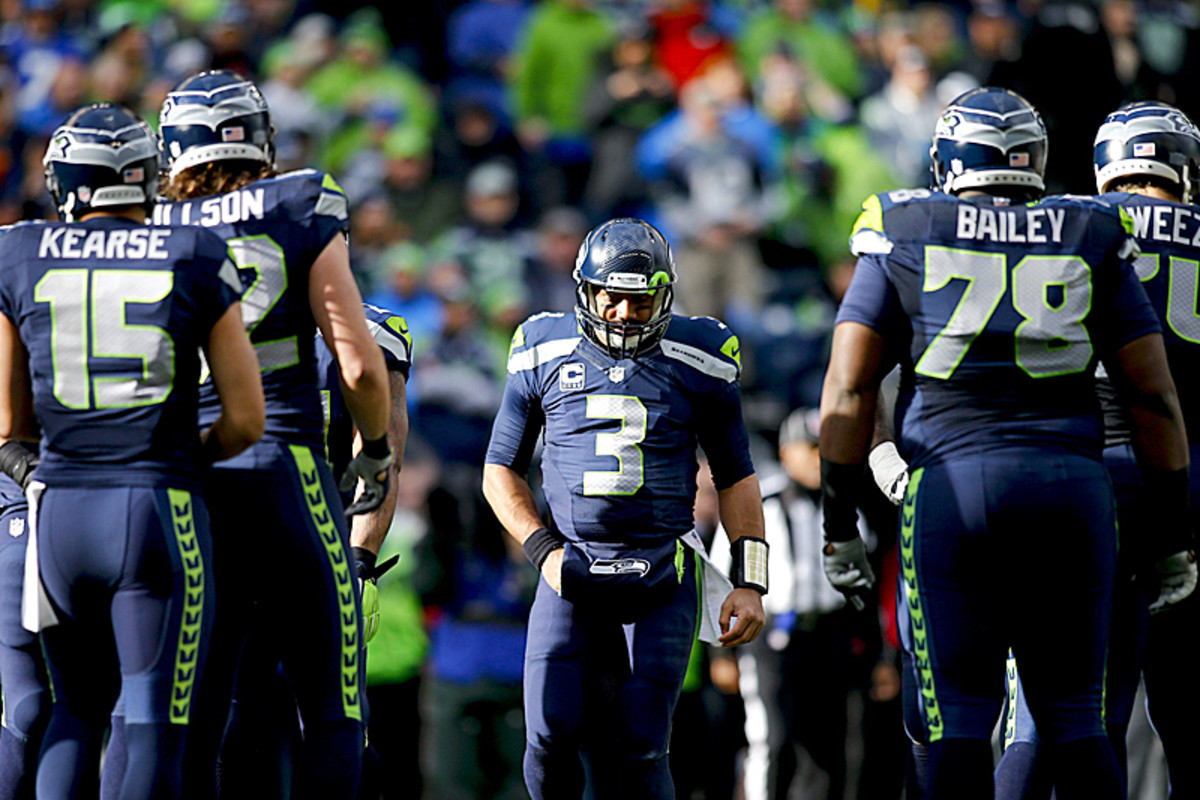 Wilson during the NFC title game. (Jonathan Ferrey/SI/The MMQB)