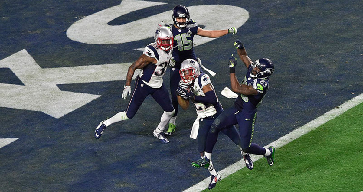 Malcolm Butler's interception in the final minute sealed the Patriots' Super Bowl 49 win over the Seahawks. (John Iacono/Sports Illustrated/The MMQB)