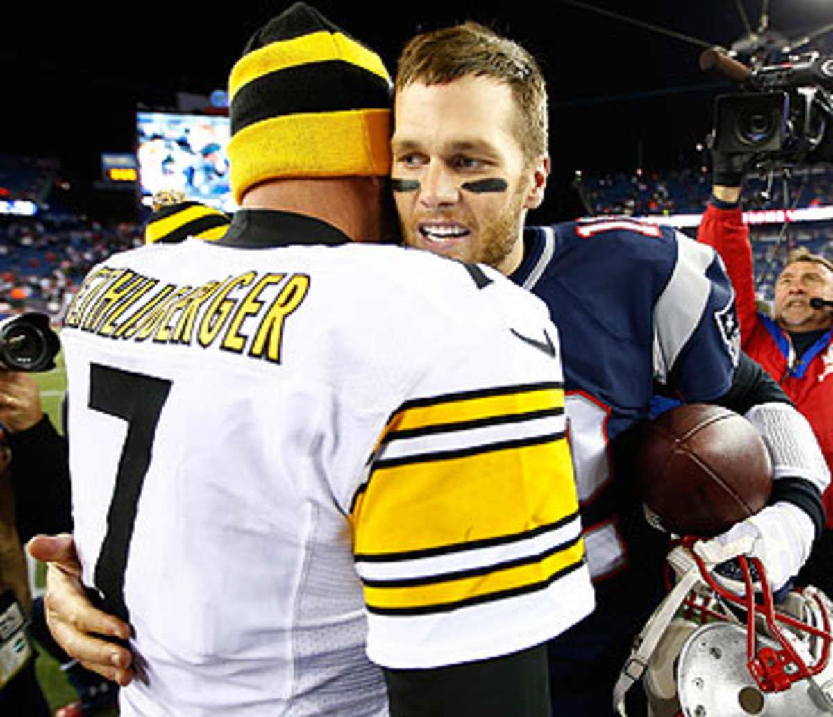 Brady's Patriots beat Roethlisberger's Steelers the last time they met in November 2013. (Jared Wickerham/Getty Images)