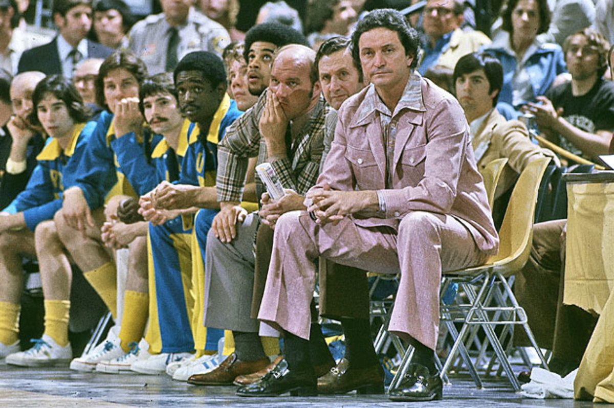 Though he wasn't good enough to play for the legendary Al McGuire, Majerus (third from right) was an assistant on Marquette's 1977 national title team.