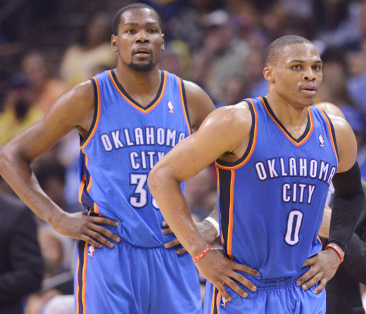 Kevin Durant Russell Westbrook Thunder 630 blue