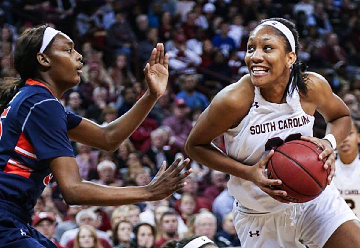 A'ja Wilson South Carolina women's basketball inline image