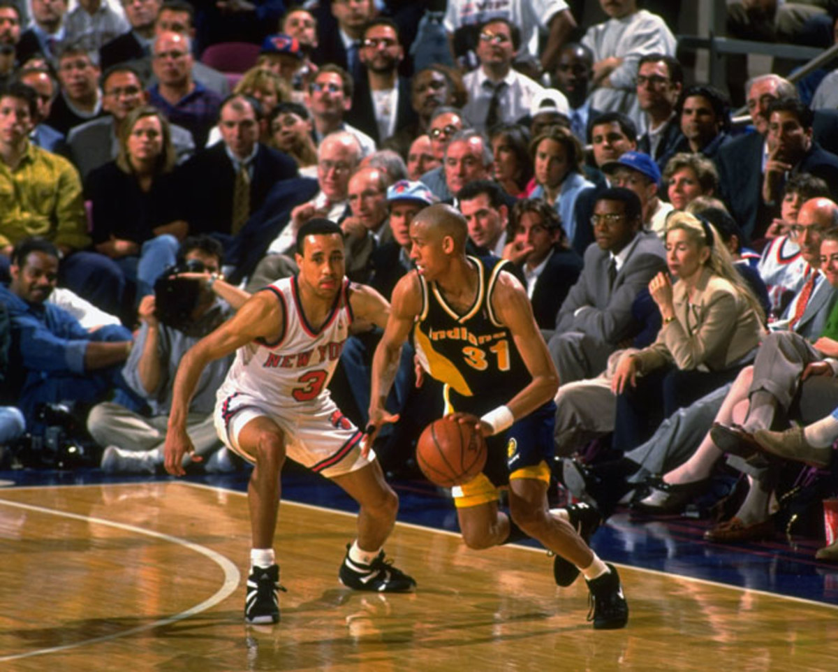 Reggie Miller and John Starks