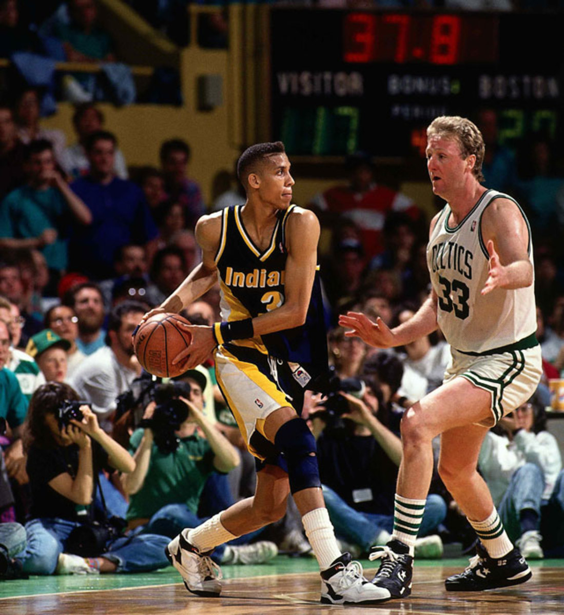 Reggie Miller and Larry Bird