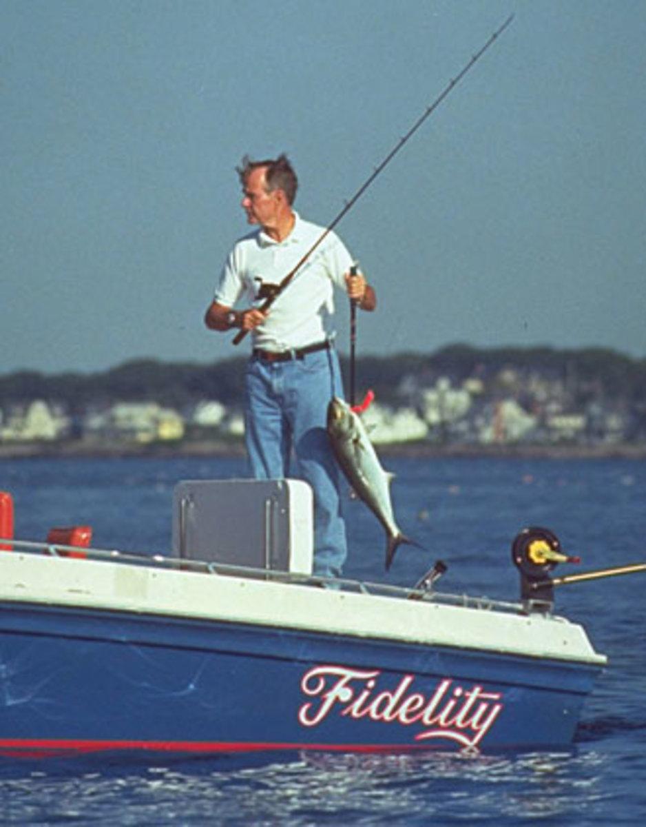 President Bush 41 fishing