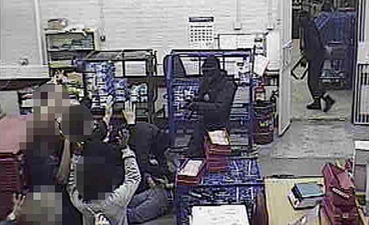 Security footage of the heist was helpful, but the thieves' sloppiness was their undoing.