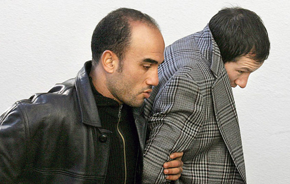 Murray (right) was arrested by Morocco's police, who later discovered drugs in a raid on his home.