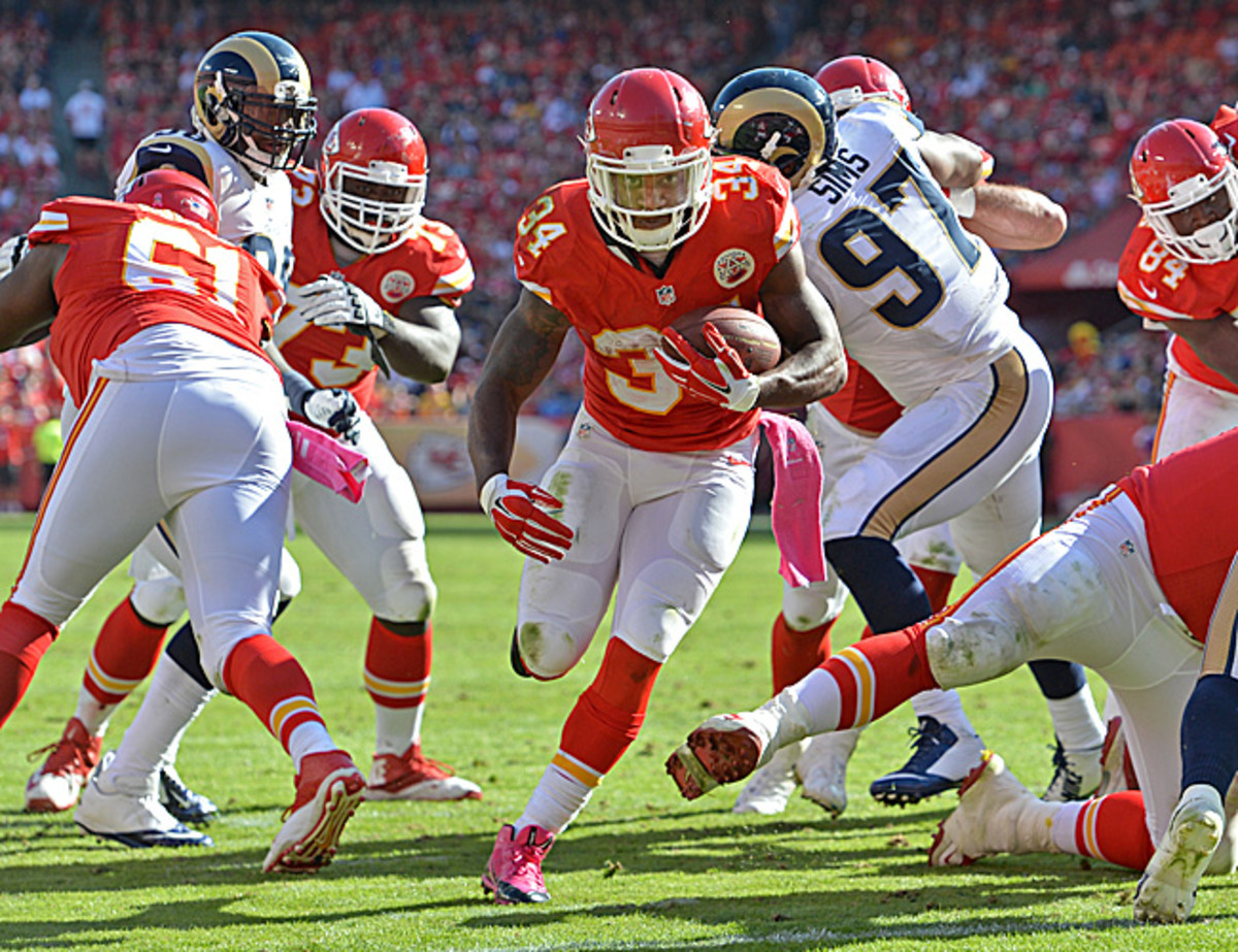 Knile Davis gives the Chiefs a second No. 1-caliber back. (Peter G. Aiken/Getty Images)
