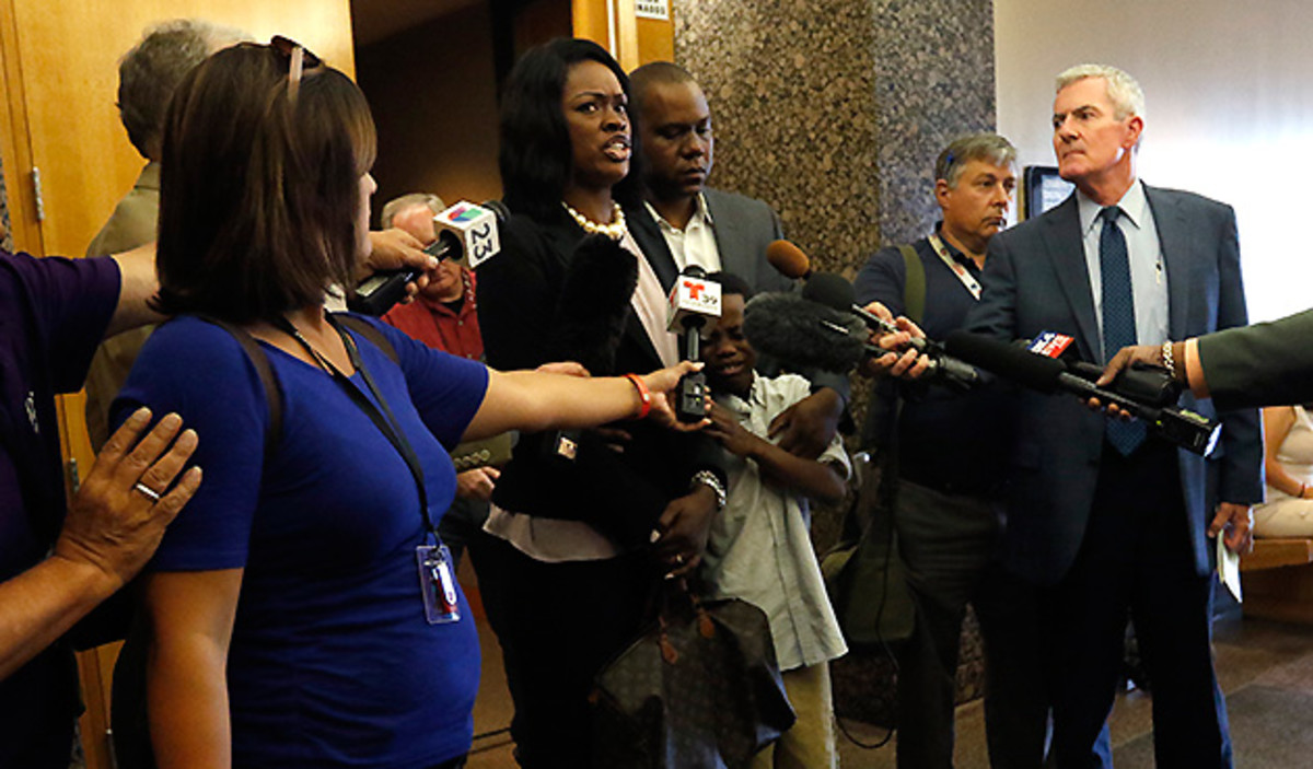 Tammy and Roferrel Simpson told reporters after Johnathan's hearing that justice had not been done.