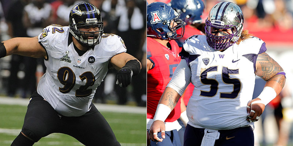 Washington's Danny Shelton is drawing comparisons to space-eating Raven Haloti Ngata. (Getty Images/AP)