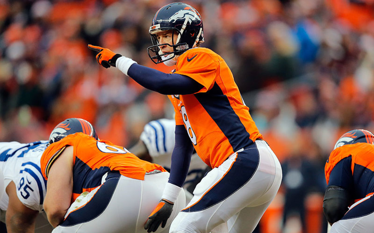 If Peyton Manning passes a physical, his 2015 base salary—$19 million—will be guaranteed on March 9. (Doug Pensinger/Getty Images)