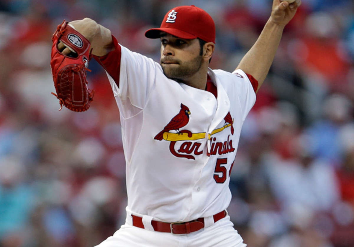 A shoulder injury limited Jaime Garcia to just nine starts and 55.1 innings pitched in 2013.