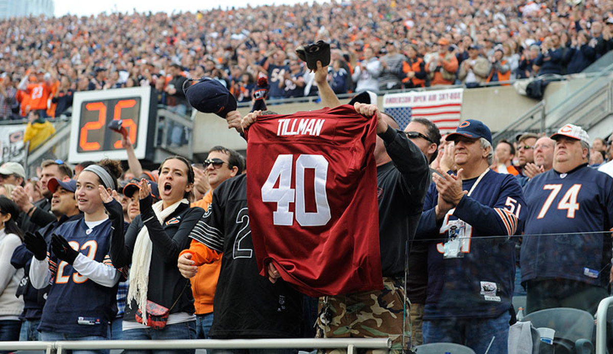 Ten years after his passing, Pat Tillman's memory is still honored by NFL fans across the league. (David Banks/Getty Images)