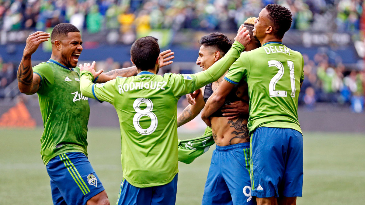 The Seattle Sounders win MLS Cup