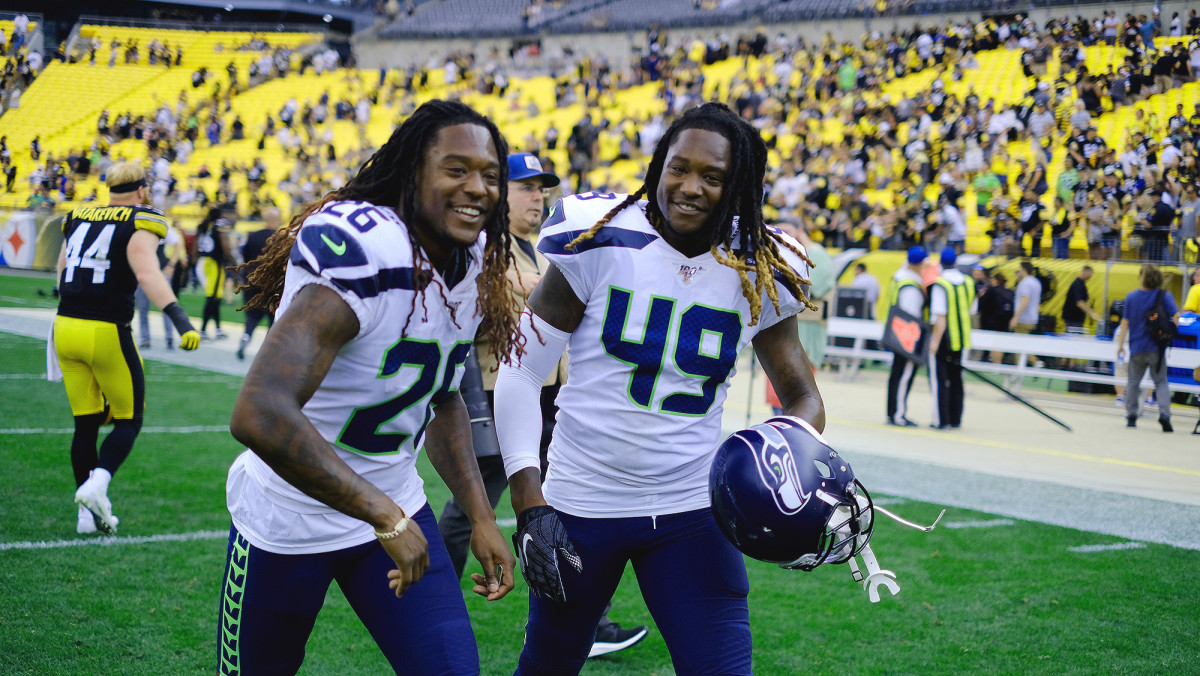 """Shaquill Griffin (left) says playing with his twin, Shaquem, is """"insane."""""""